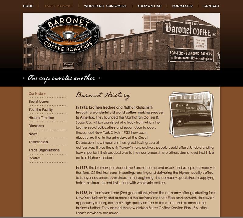 Baronet Coffee eCommerce Website