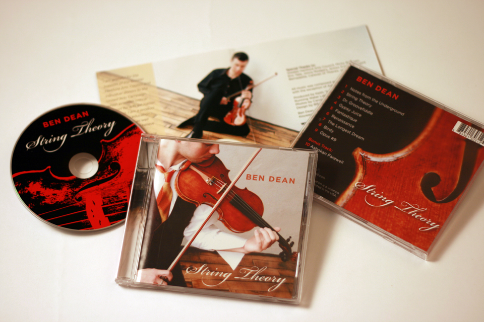 Violinist Ben Dean CD Package Design