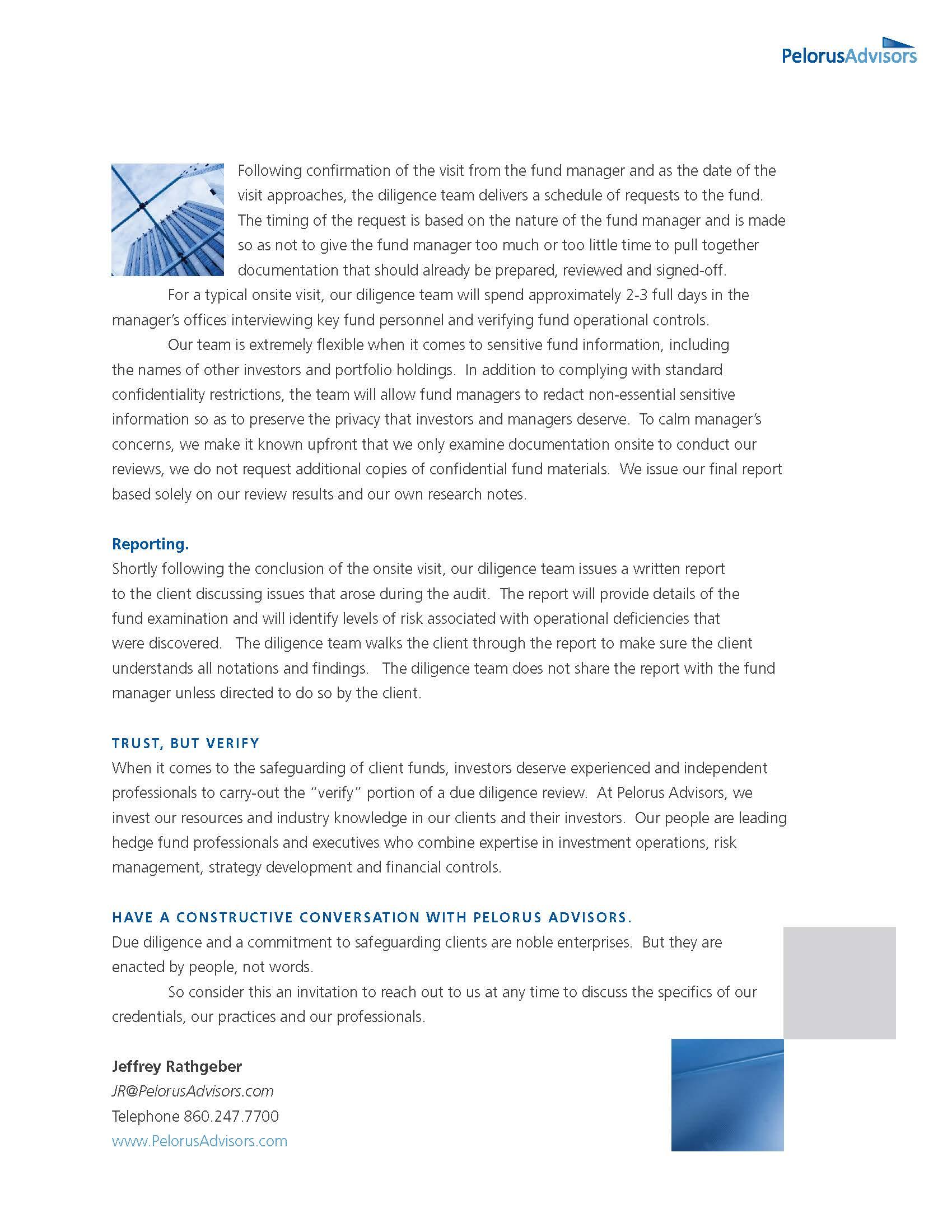 Hedge Fund Brochure