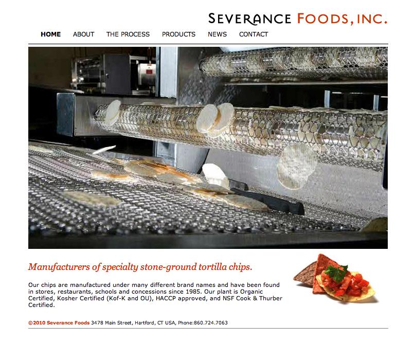Severance Foods Website