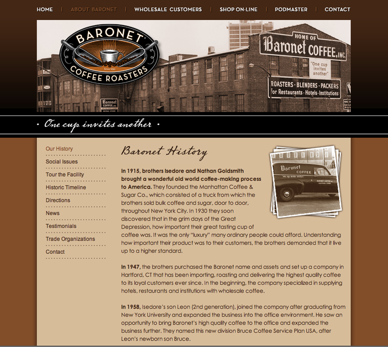 Baronet Coffee eCommerce Website
