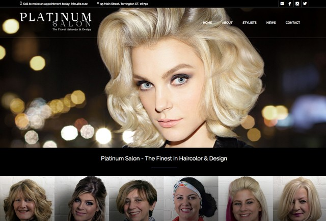 Platinum Salon Website