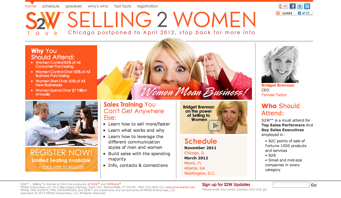 S2W – Selling To Women Tour