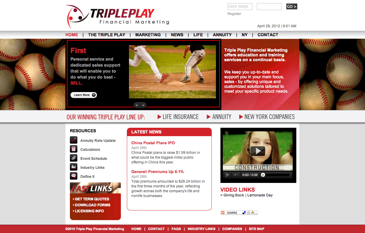 Tripleplay Financial Marketing Website