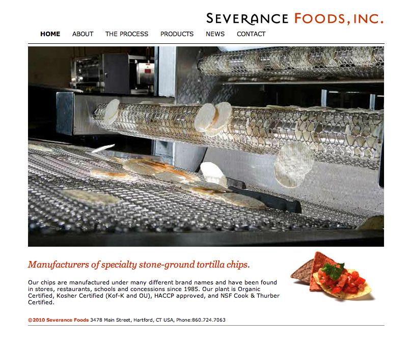 Severance Foods Website