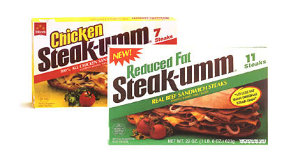 Steak-umm Packaging