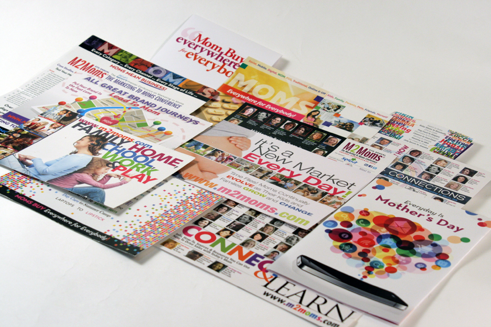 M2Moms Print Collateral