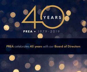 PREA 40th Year Board of Directors Invitation