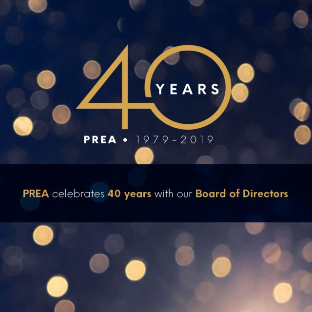 PREA 40th Year Board of Directors Invitation