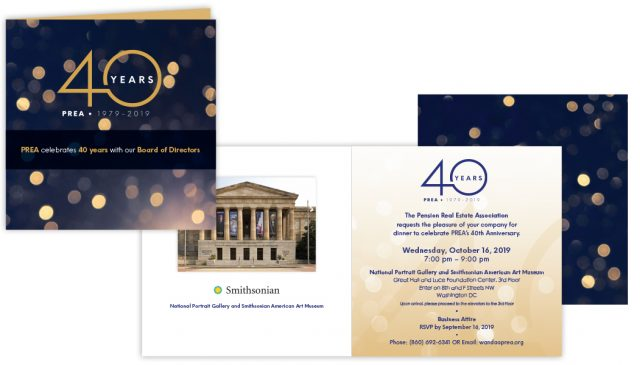 PREA 40th Anniversary Board of Directors Invitation